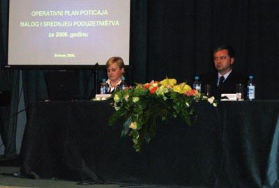 ODRŽANA PREZENTACIJA PROGRAMA I OPERATIVNOG PLANA POTICANJA MALOG I SREDNJEG PODUZETNIŠTVA MINGORP-a ZA 2008. GODINU U KOPRIVNICI