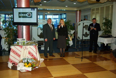 Voditelj Projekta gospodin Ivica Đopar i ravnateljica PORE gđa Melita Birčić