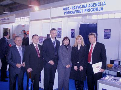 Izlagački prostor PORE Razvojne agencije posjetio je župan Koprivničko-križevačke županije sa zamjenicima