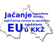 Logo projekta Jačanje kapaciteta dionika regionalnog razvoja za apsorpciju EU sredstava u Koprivničko-križevačku županiju