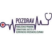 Logo projekta Pozdrav Poboljšanje primarne zdrastvene zaštite u Koprivničko-križevačkoj županiji