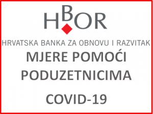 Hrvatska banka za obnovu i razvitak - Mjere pomoći poduzetnicima uslijed epidemije COVID 19