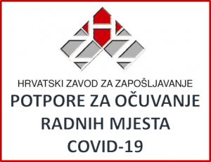 Hrvatski zavod za zapošljavanje - Potpore za očuvanje radnih mjesta uslijed epidemije COVID 19