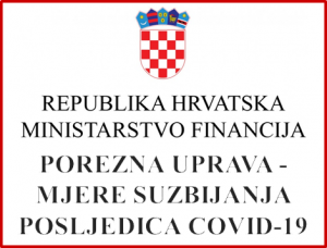Ministarstvo financija - Mjere suzbijanja posljedica uslijed epidemije COVID 19