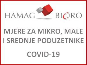 Hamag Bicro - Mjere za mikro, male i srednje poduzetnike uslijed epidemije COVID 19