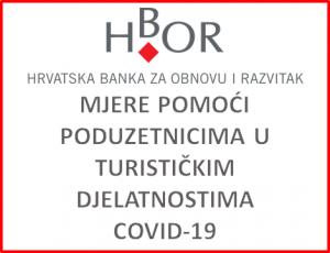 Hrvatska banka za obnovu i razvitak - Mjere pomoći poduzetnicima u turističkim djelatnostima uslijed epidemije COVID 19