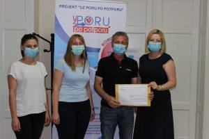 Predstavnici Općine Novigrad Podravski i Razvojne agencije Pore KKŽ prilikom prijave projekta