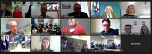 Sudionici online Početne konferencije projekta ECOoperation