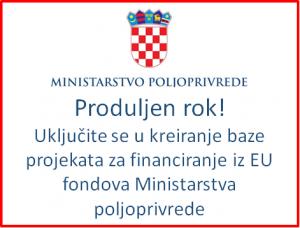 Ministarstvo Poljoprivrede - Uključite se u kreiranje baze projekata za financiranje iz EU fondova