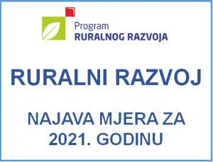 Najava mjera Ruralnog Razvoja za 2021. godinu