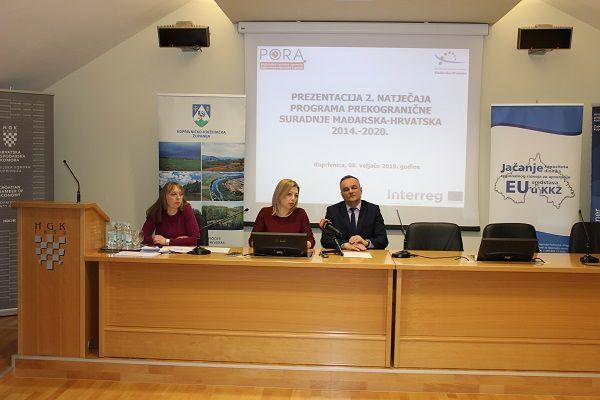 ODRŽANA PREZENTACIJA OTVORENOG NATJEČAJA INTERREG V-A PROGRAMA PREKOGRANIČNE SURADNJE MAĐARSKA-HRVATSKA 2014.-2020.